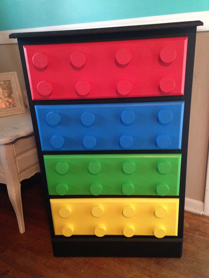 DIY Lego Themed Dresser