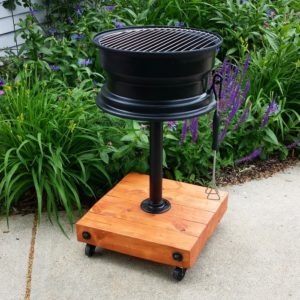 Learn how to build a no-weld tire rim grill