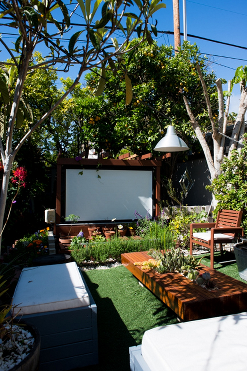 entertainment to your backyard by building an outdoor movie theater