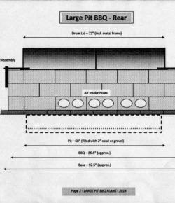 DIY Rotisserie BBQ Pit Blueprints