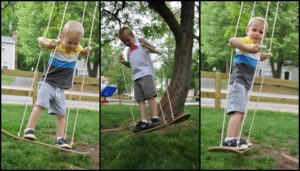 Make an awesome skateboard swing for the kids!