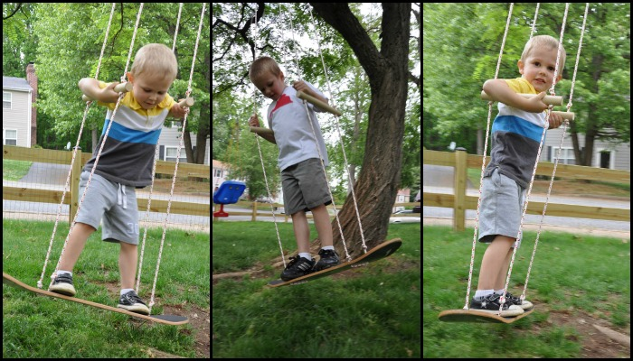 make an awesome skateboard swing for the kids skateboard