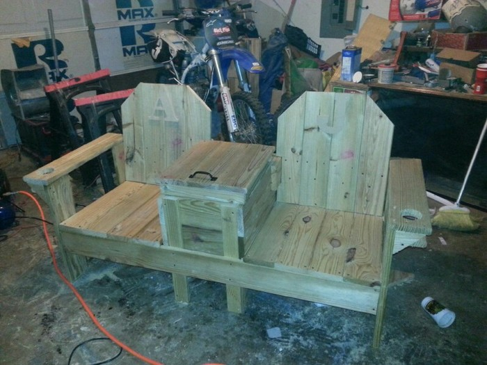 Remarkable Enjoy Your Outdoor Space By Building This Double Chair Bench Caraccident5 Cool Chair Designs And Ideas Caraccident5Info