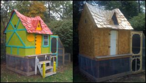 Build a fairytale cottage chicken coop for your backyard chooks!