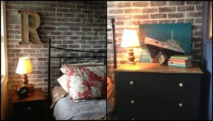 Give your walls a new look with a faux brick wall!