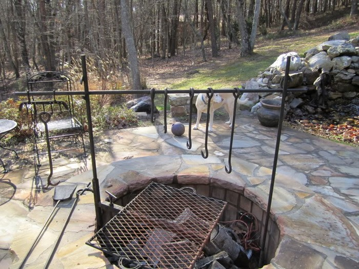 Build A Fire Pit With Cooking Grill In Your Backyard Diy