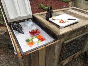 Old Fridge to Rustic Cooler How-To