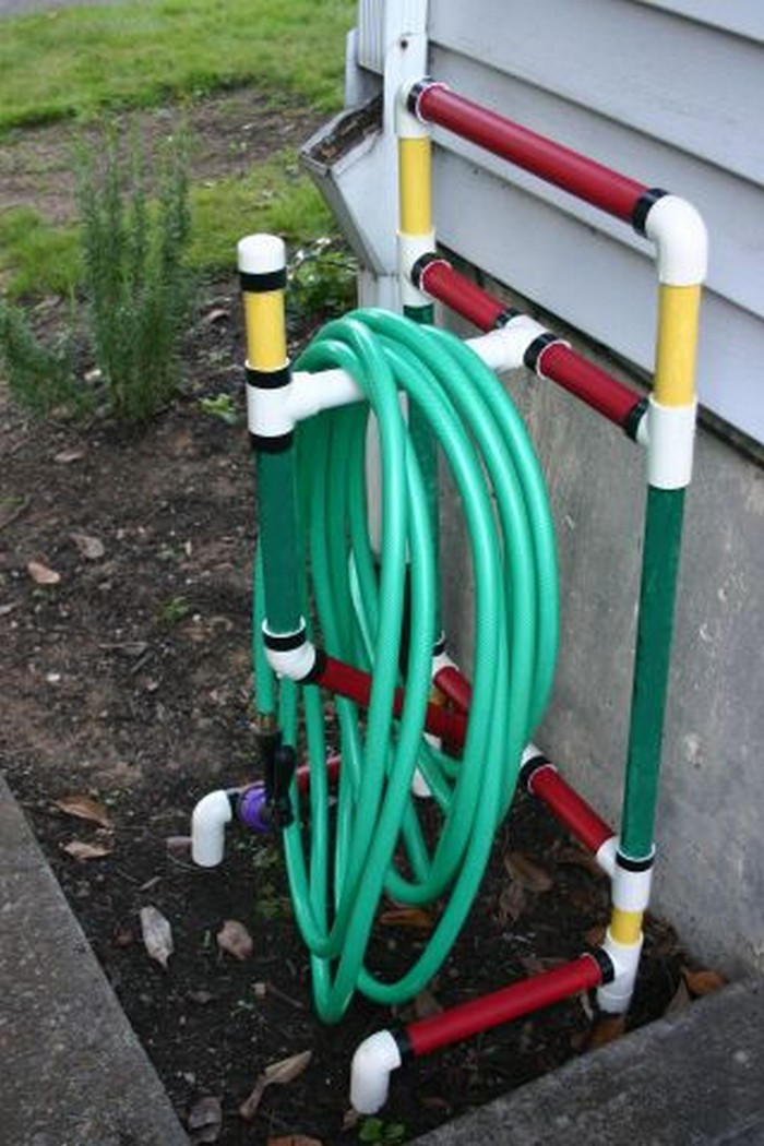 Garden Hose Storage Ideas garden hose holder station Pvc Storage