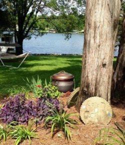 Garden Hose Storage Pot with Lid