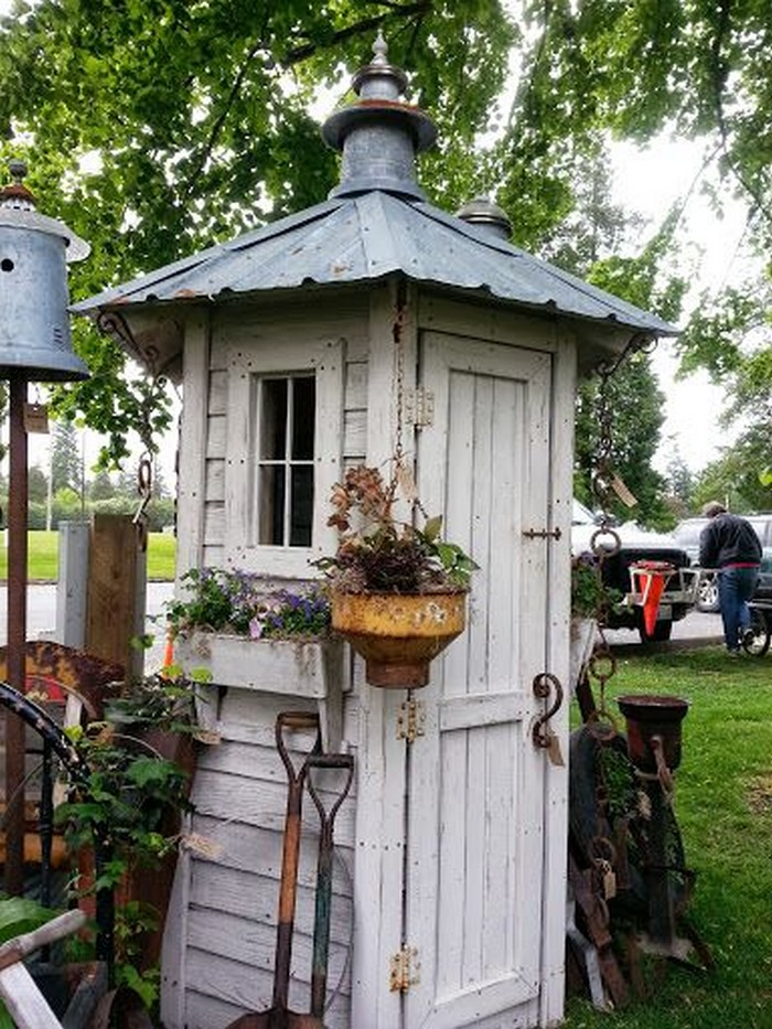 Build a whimsical tool shed for your garden diy for Diy garden shed