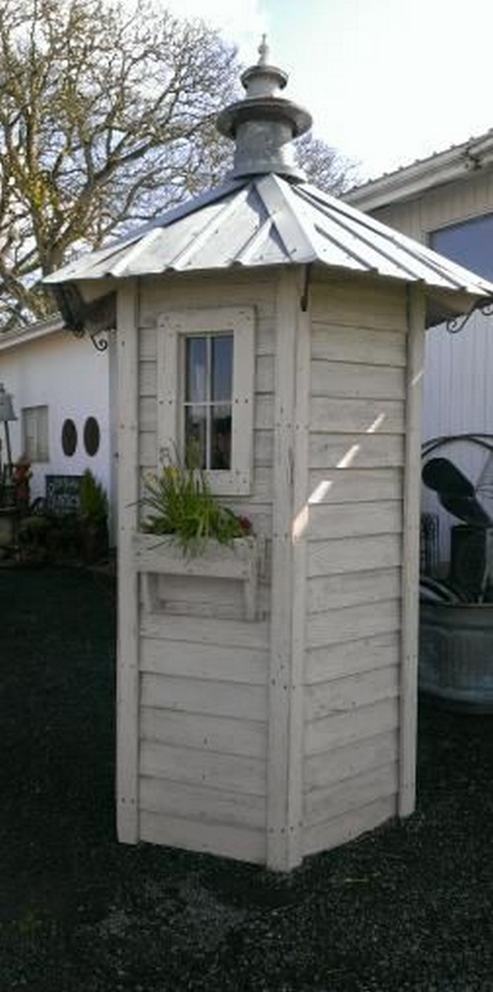 Build a whimsical tool shed for your garden diy for Outdoor tool shed