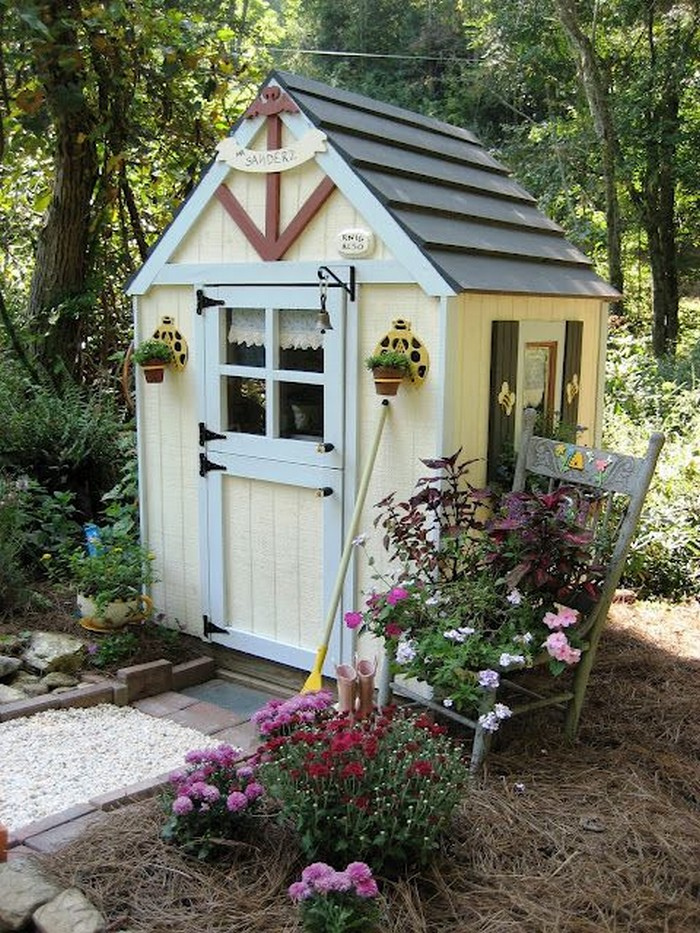 Build A Whimsical Tool Shed For Your Garden Diy