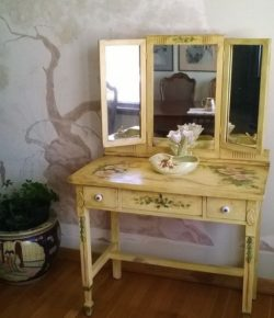 Hand-painted vanity