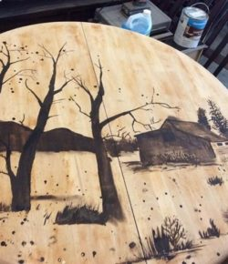 Hand-painted tables