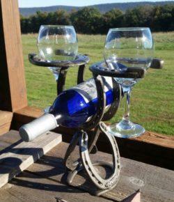 Horseshoe Wine Holder