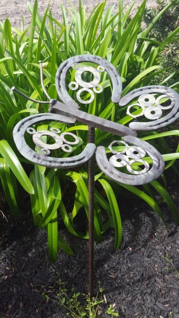 Horseshoe Butterfly Yard Art