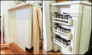 How to make a built-in spice rack