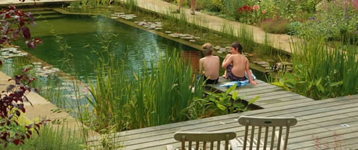 Beautiful to look at and wonderful to use since a natural swimming pond is 100% chemical free!