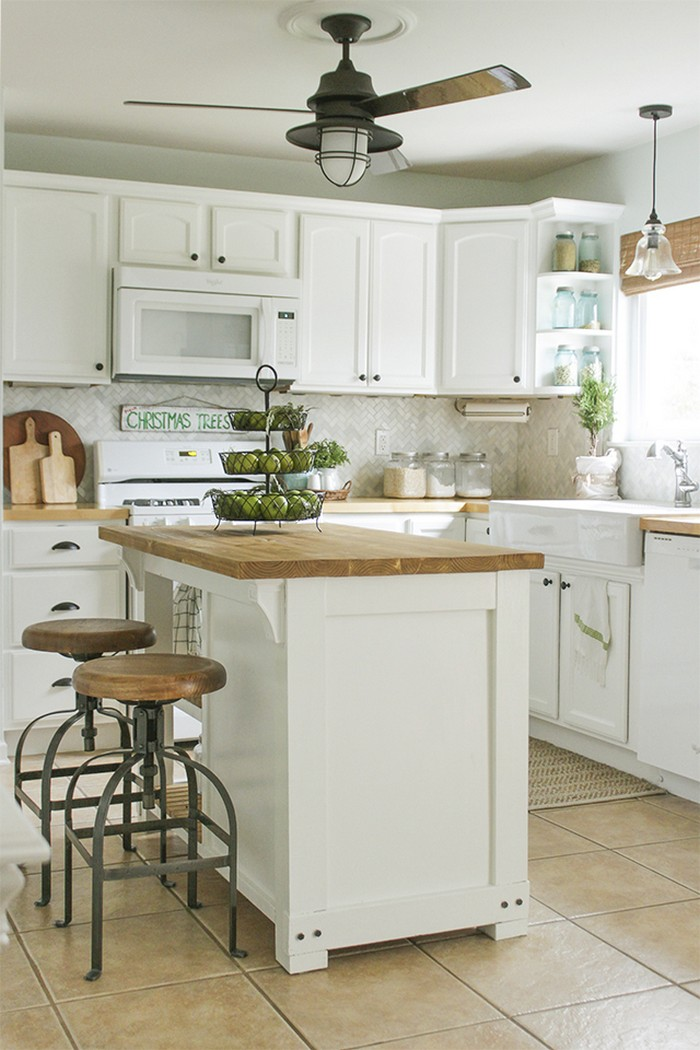 Build A Beautiful Kitchen Island With A Tilt-out Trash Bin