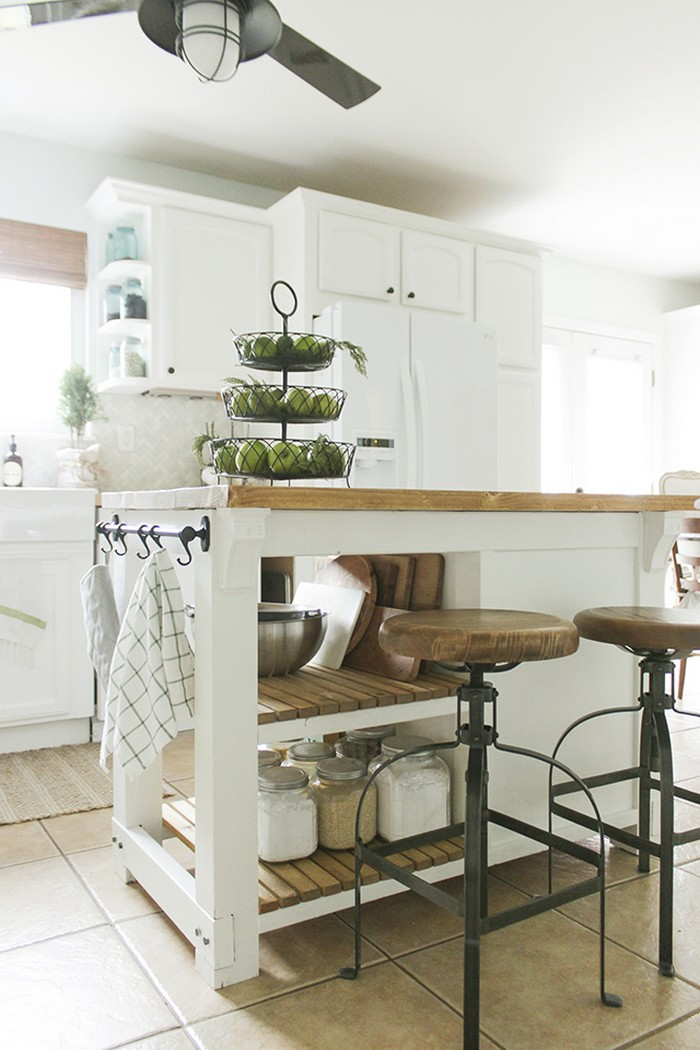 Build A Beautiful Kitchen Island With A Tilt Out Trash Bin