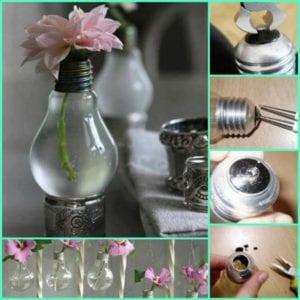 Make a Light Bulb Vase