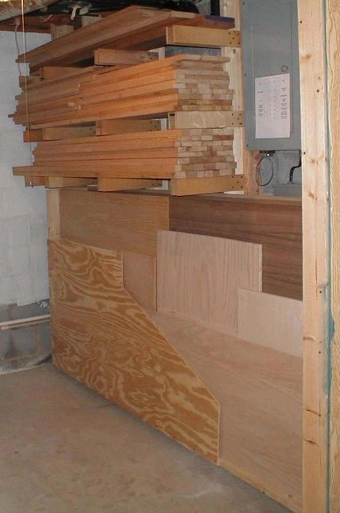 with plan pinterest work of diy full within storage amazing elegant wood on bench uncategorized for unique shop ideas garage size best lumber rack