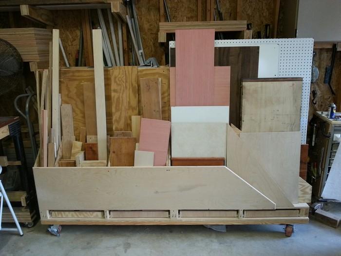 Build your own portable lumber rack diy portable lumber for Vertical lumber storage rack