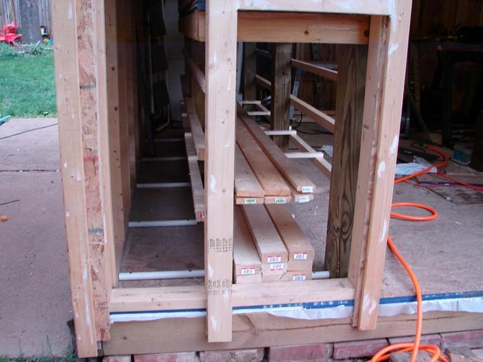 Lumber Storage Ideas