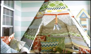 Build your kids a fun, no-sew teepee tent!