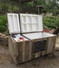 Old Fridge Rustic Cooler