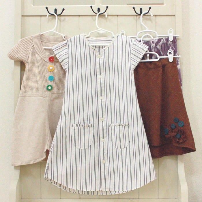 Men's shirt turned into a girl's dress