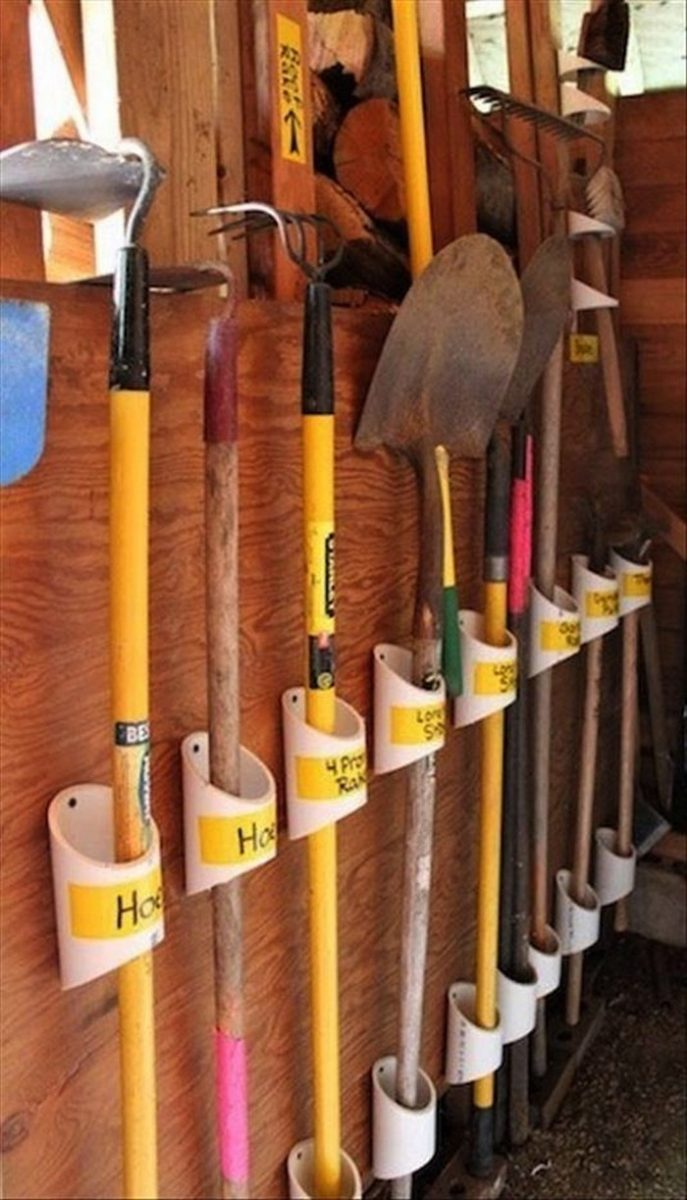 Organize Your Garage By Making A Pvc Yard Tool Storage Your