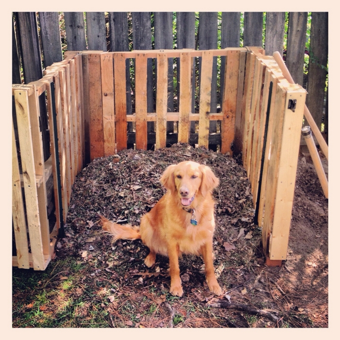 Build A Compost Bin From Repurposed Pallets Diy Compost Bin