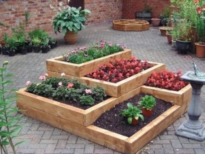 Tiered Pallet Garden Bed
