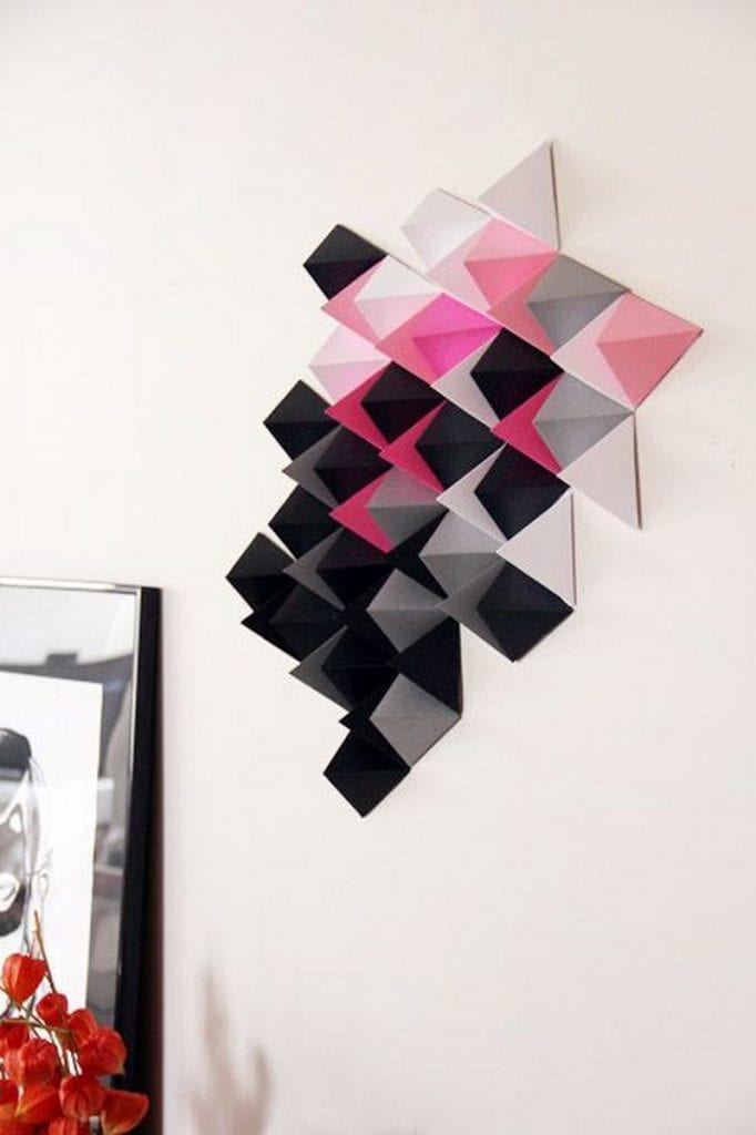 easy paper decors to spruce up plain and boring walls. Black Bedroom Furniture Sets. Home Design Ideas