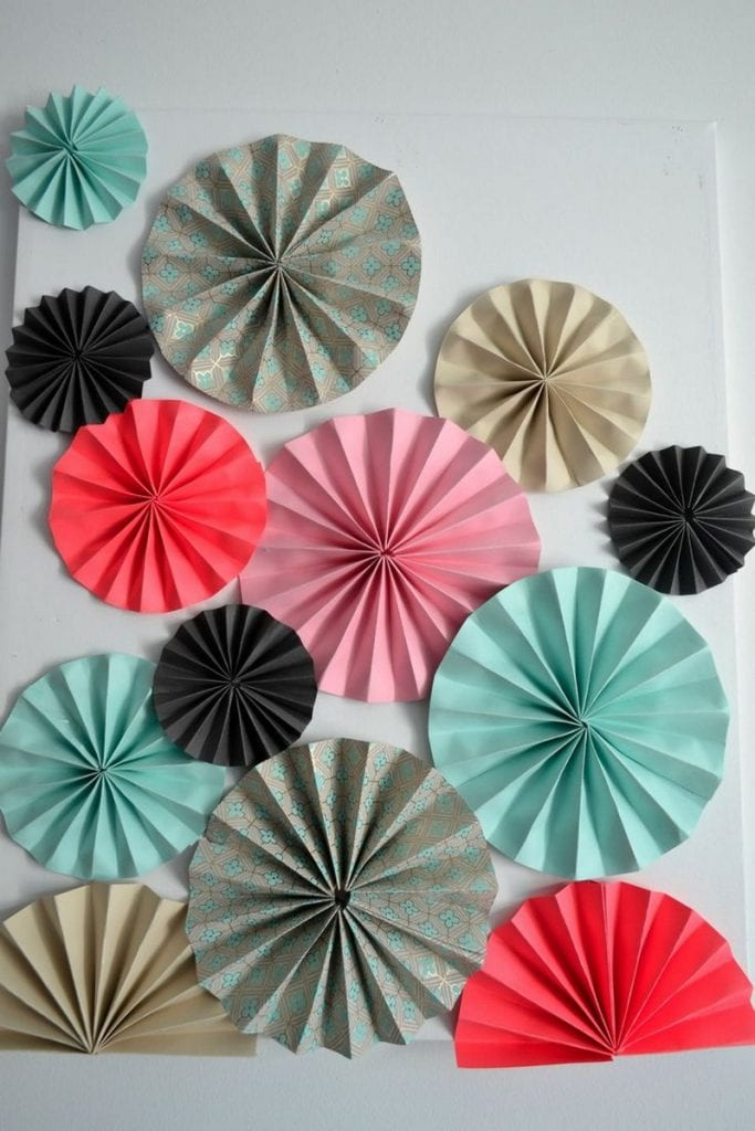 Easy paper crafts for walls the image for Paper wall art design