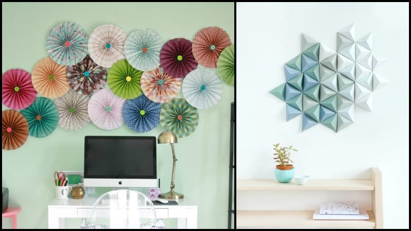 Easy paper decors to spruce up plain and boring walls - Paper decorations for room ...