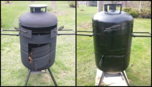 Build your own pizza oven from a propane tank!