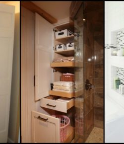 Pull-out bathroom storage ideas