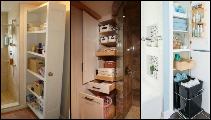 Avoid clutter in your bathroom with these pull-out storage ideas!