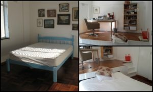 Maximize bedroom space by building a bed under platform!