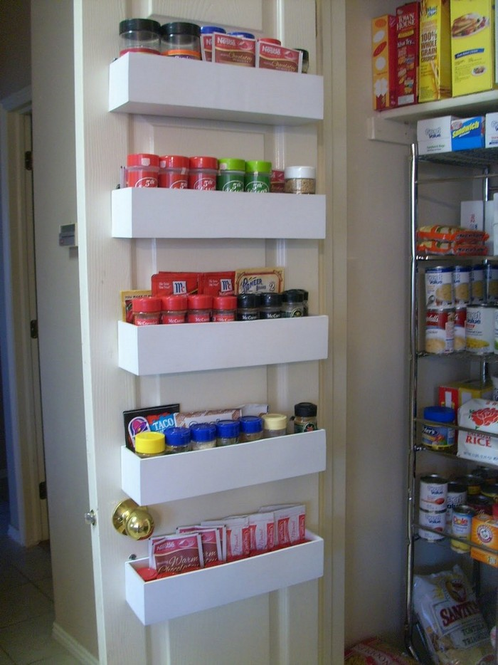 How to make a built in spice rack diy spice rack Diy under counter storage