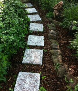 Lace-like stepping stones