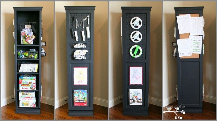 Build a space-saving swivel storage cabinet !