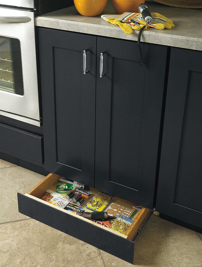 Make a toe kick drawer for extra kitchen storage