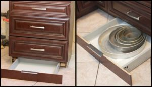 Make a toe kick drawer for extra kitchen storage!