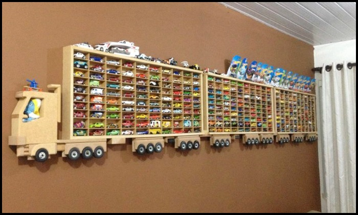 Display your kids' toy cars with one of these awesome storage ideas!