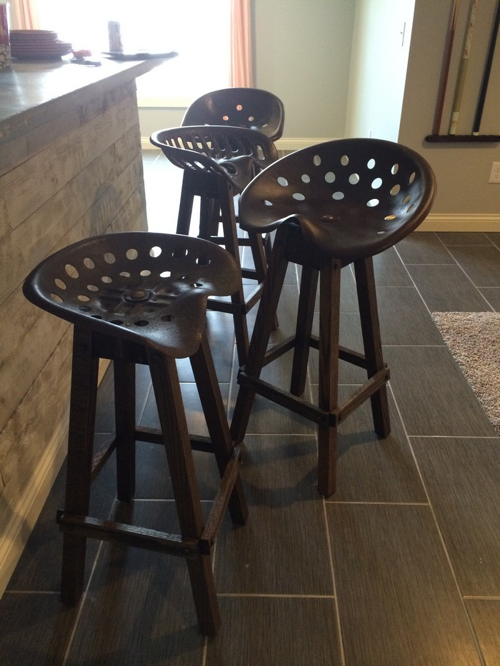 Upcycled Tractor Seat Bar Stool DIY