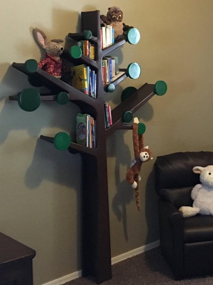 Build your own tree shaped bookshelf - Bookshelf shaped like a tree ...