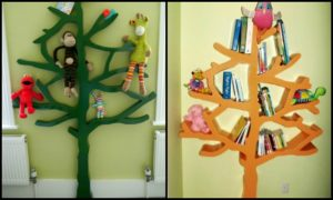 Build your own tree-shaped bookshelf!